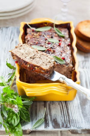 pate: country pate with meat and liver