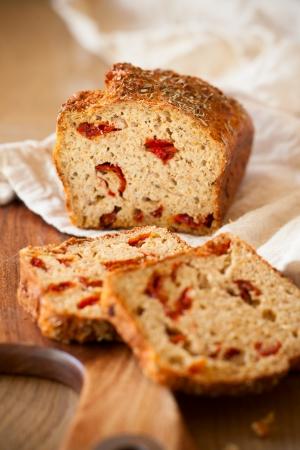 sundried: Sundried tomato and cheese bread Stock Photo