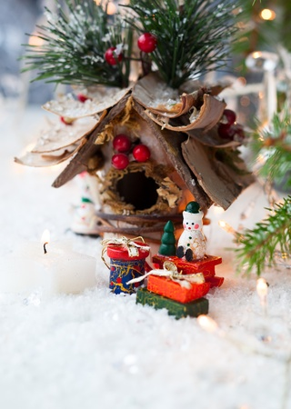 Christmas decorations with gifts photo