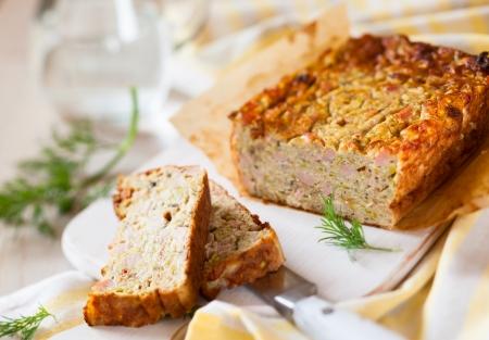 Zucchini and Turkey Ham Terrine Stock Photo - 16101051