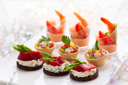 Holiday Appetizers on the platter photo