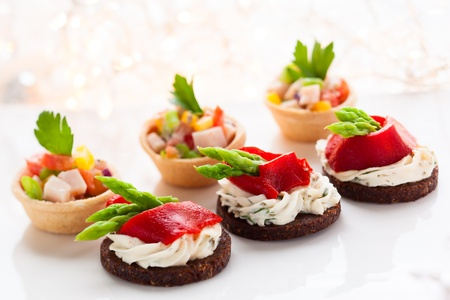 christmas catering: Holiday Appetizers on the platter