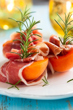 starter: Prosciutto with apricots