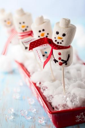 Marshmallow Snowmen Christmas Candy photo