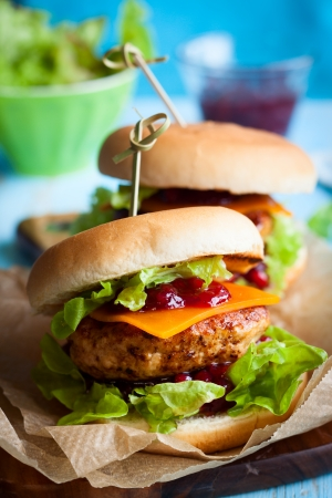 cranberry: Christmas Turkey Burgers With Cranberry Sauce
