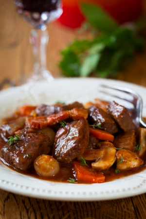 red braised: Boeuf Bourguignon