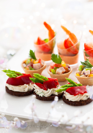 buffet dinner: Holiday Appetizers on the platter