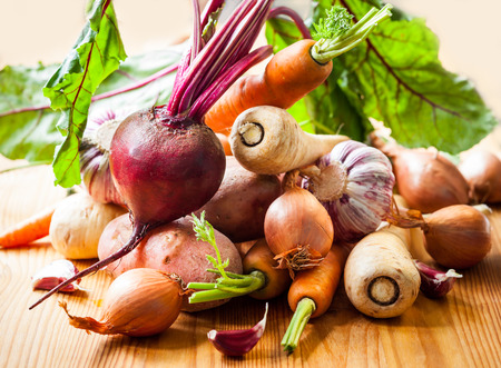 Types Assortiment de légumes-racines Banque d'images