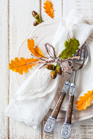 plate setting: Autumn table setting