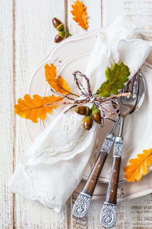 Herbst Tabelleneinstellung  Standard-Bild
