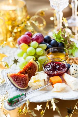 tabla de quesos: Tabla de quesos para la Navidad