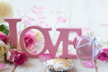 romantic flowers: Valentines day concept