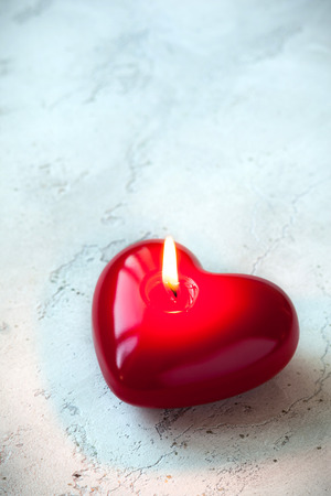 bougie coeur: C?ur bougie en forme pour la Saint-Valentin