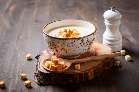 Cauliflower cream soup  with croutons