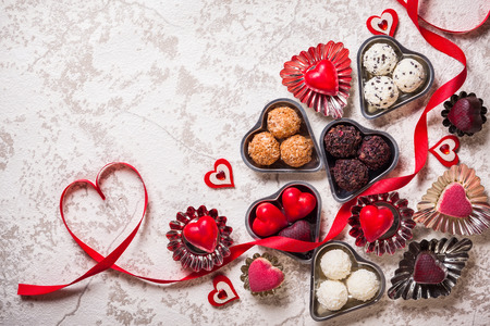 love shape: Gourmet chocolates for Valentines Day