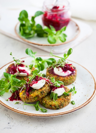 fritters: Fritters with quinoa,vegetables and flax seeds