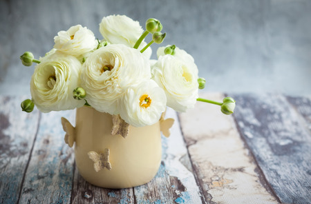 Bouquet of white ranunculus