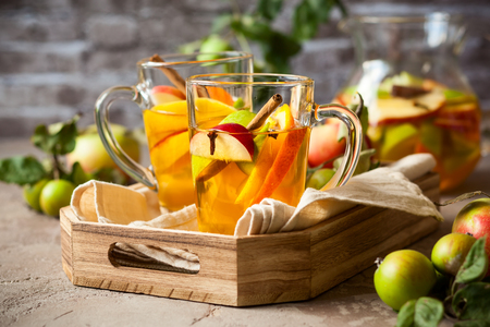 jag: Sangria with apples,citrus and spices