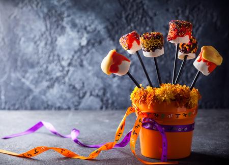 pops: Dipped Marshmallow Pops for Halloween