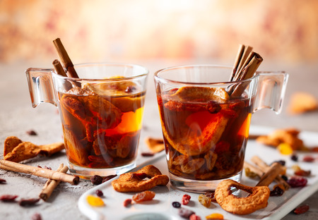 Fall and winter drink with dried fruits and berries. Traditional drink for Christmas.