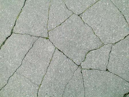 tremor: crack on asphalt Stock Photo