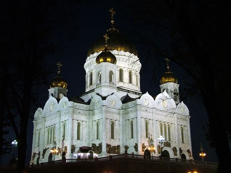 cupola: central orthodox cathedral in Moscow