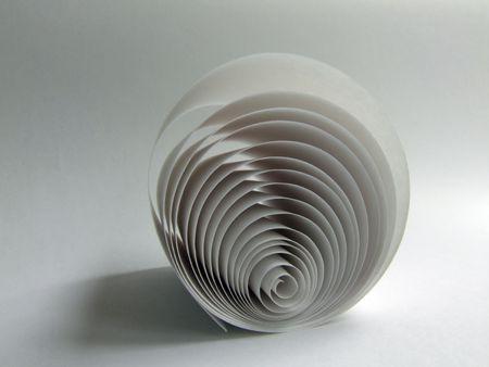 paper in spiral photo