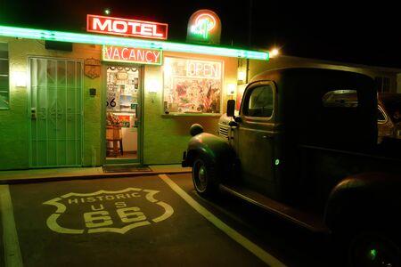 Route 66 Motel, Arizona Stok Fotoğraf - 44214074