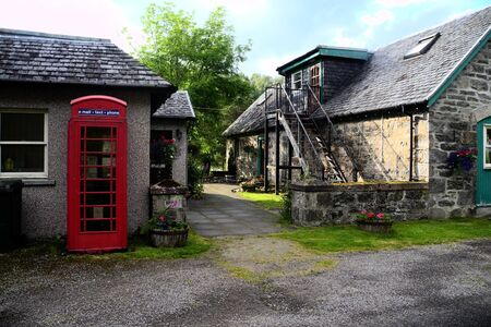 red telephone: Red telephone box, Scotland