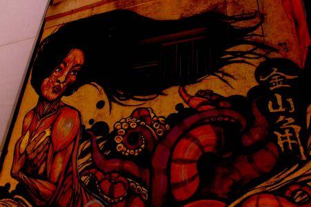 graffito: San Francisco, Chinatown