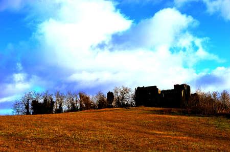 lazio: Ruins of a castle in the countryside of Lazio, Italy