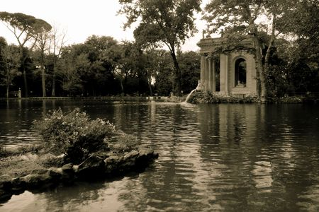 aesculapius: Villa Borghese, Roma Foto de archivo