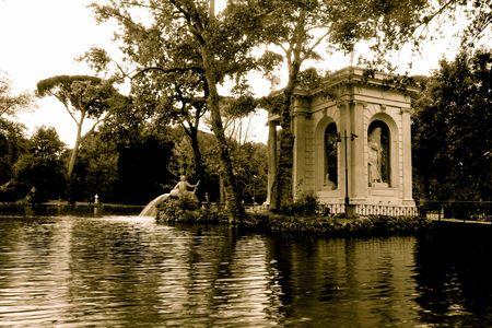 esculapio: Villa Borghese, Roma Foto de archivo