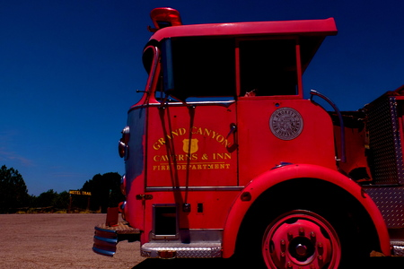 red truck: red truck, Route 66