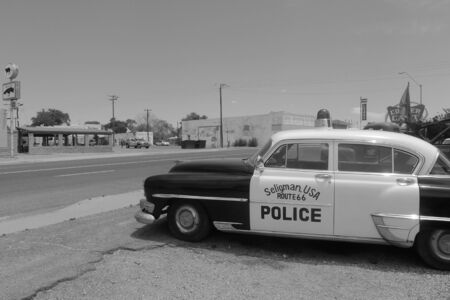 66: Seligman, Route 66 Stock Photo