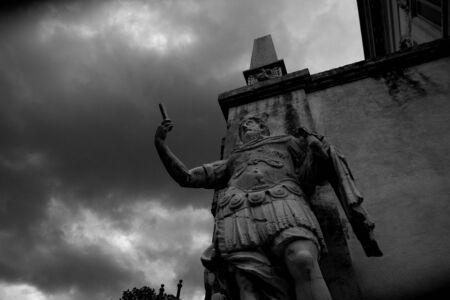 villa borghese: Villa Borghese, statues of an ancient Roman, Rome