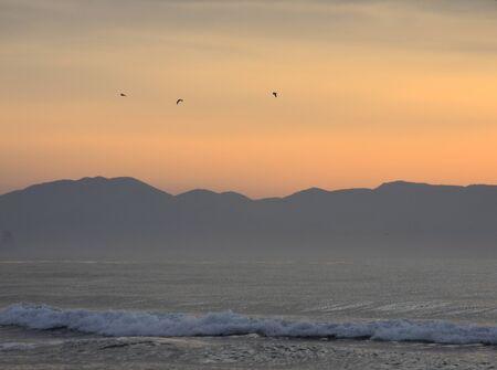 sunrise ocean: sunrise over the sea Stock Photo