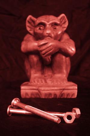 Statua del demone Archivio Fotografico - 85844381