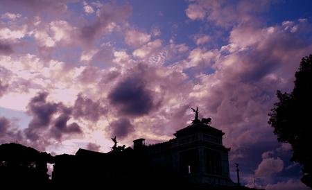 Monumento Vittorio Emanuele II Archivio Fotografico - 86570914