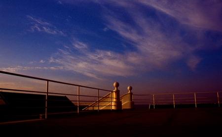 Terrace and sea sky