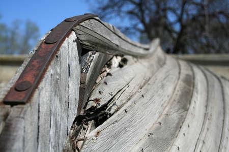 keel: keel of the old  boat