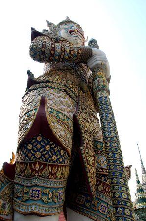 pra: Giant at Wat Pra Kaew Thailand