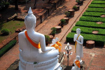 yai: Wat Yai Chaimongkol della Thailandia di Ayutthaya