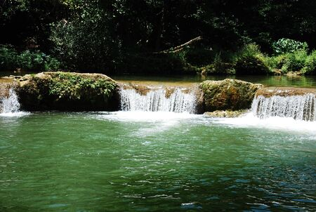 namtok: Waterfalls Namtok Chet Sao Noi at Saraburi Thailand Stock Photo