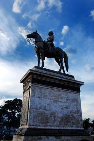 rama: Memorial King Rama V  (King Chulalongkorn Great) Stock Photo