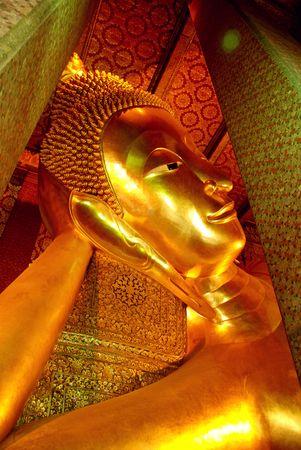 Giant Golden Reclining Buddha Wat Pho Stock Photo - 8169883