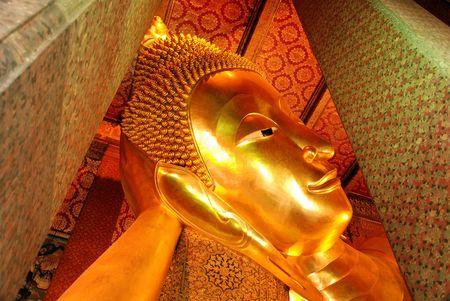 Giant Golden Reclining Buddha Wat Pho photo