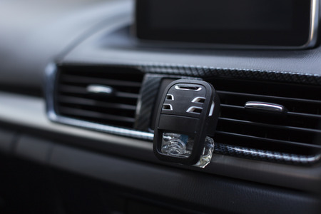 Automotive air conditioning in the car with air freshener
