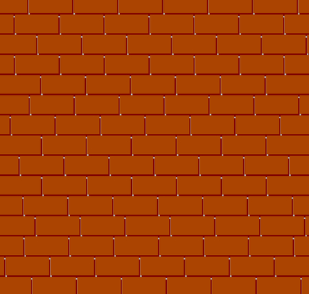 Brown brick wall background vector.  イラスト・ベクター素材