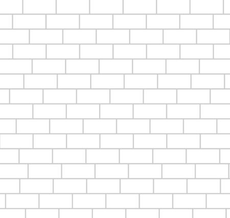 White bricks wall background seamless pattern vector